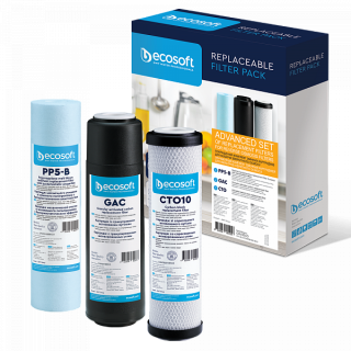 Комплект картриджів Ecosoft 1-2-3 для зворотного осмосу